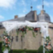 Décorer la salle de son mariage, fleuriste du château de Lavaux-Sainte-Anne