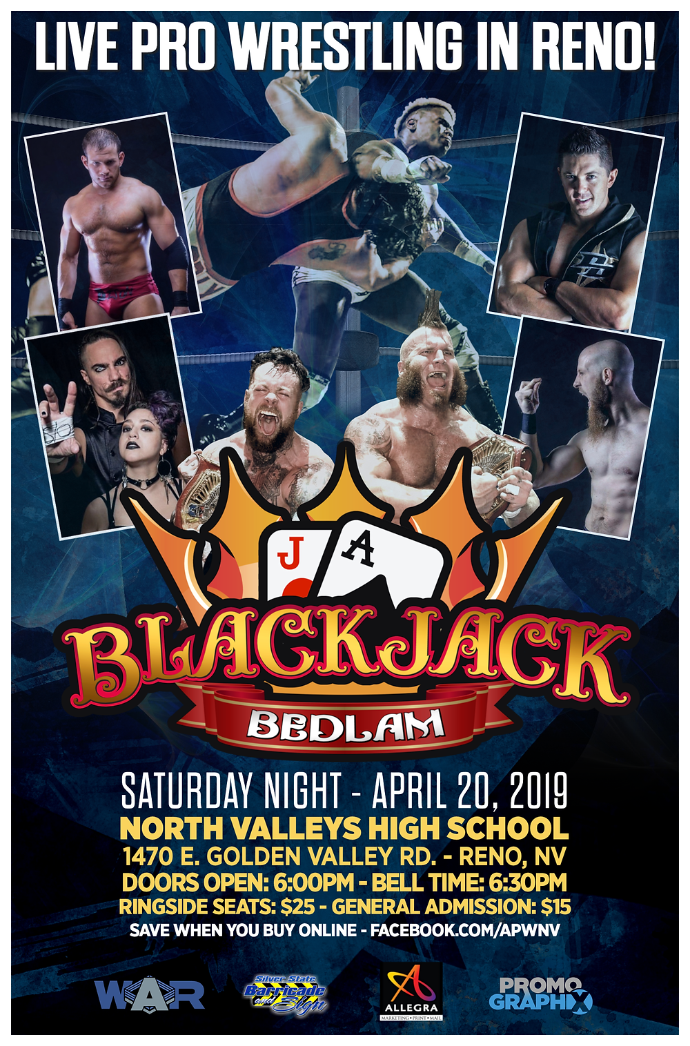 All the profits from the online sales will go directly towards the money for the pool!  Please click the link below!  https://www.eventbrite.com/e/blackjack-bedlam-tickets-56858332804