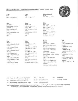 New Schedule Begins June 1