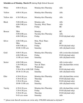 New Schedule Beginning March 29