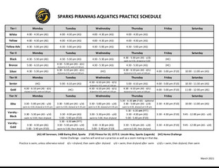 New Schedule for March 15