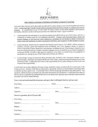 Waiver Needed for Red Hawk