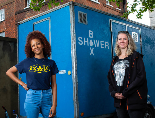 SARAH LAMPTEY & CLAIRE MACNEILL (Actor/Presenter & Artistic Director - Founder & Volunteer at ShowerBox)