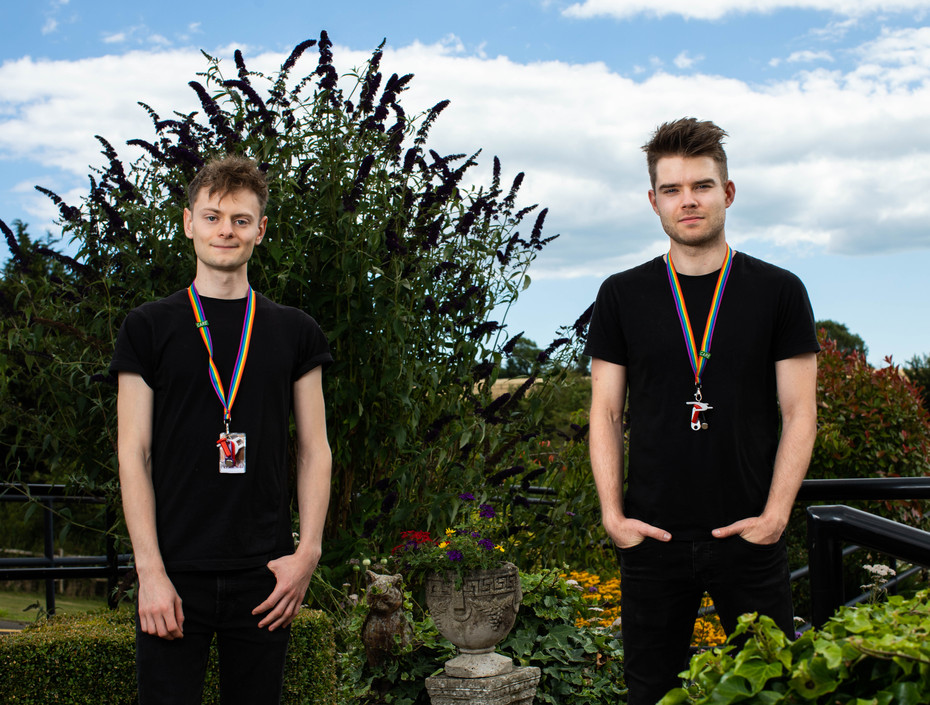 SIMON STALLARD & ETHAN TAYLOR (Actor Musicans - Care Home Staff)