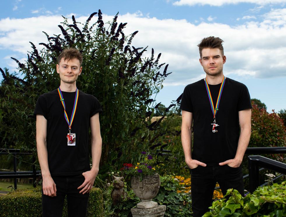 SIMON STALLARD & ETHAN TAYLOR (Actor Musicans - Care Home Staff)