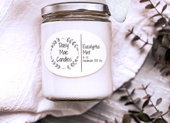Eucalyptus Mint - 16 oz Candle