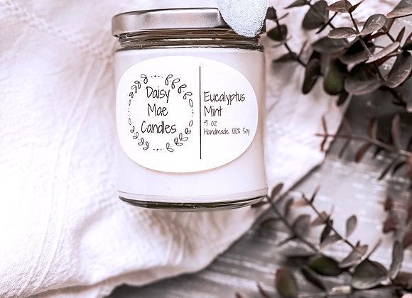 Eucalyptus Mint - 9 oz Candle