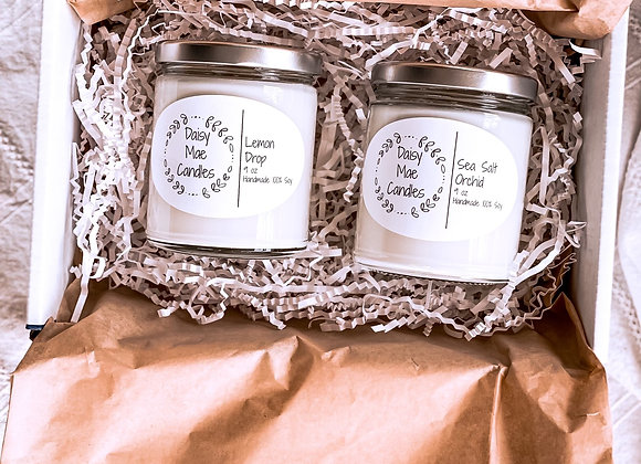 Mother's Day Gift Set - Two 9 Oz Candles