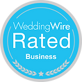 Wedding Wire Rated Badge for our Business DFW Phoenix Flms