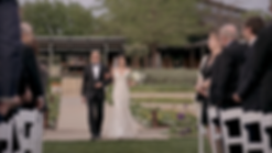 Jyoti's father walking her down the aisle at the beautiful Dallas Arboretum and Botanical Garden.