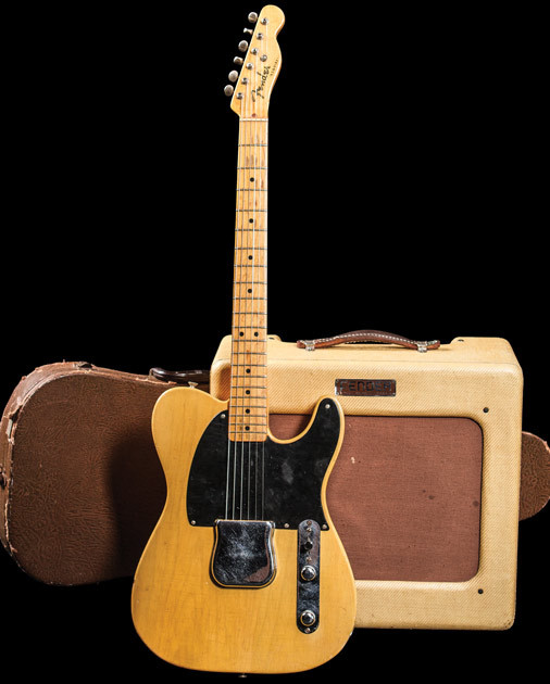 The Fender Esquire was officially unveiled in April 1950 as Fender's first standard electric solidbody. The 1950 spring catalog advertised the guitar as having one pickup in the bridge position, but some early two-pickup versions do exist. All bodies were routed for two pickups, giving the option of adding a neck pickup. Fender's two-pickup version of the guitar eventually became known as the Telecaster, with the Esquire remaining a lower-priced alternative.