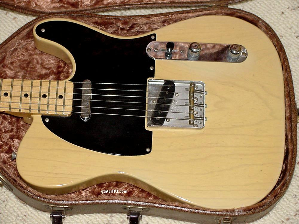 """The Fender Telecaster guitar is one of the most popular solidbody electric guitar ever made, and is the solidbody guitar that started it all. Early models (pre-1965, known as """"pre-CBS"""" models, since CBS bought Fender in January 1965) are the most collectible. Originality and condition are the two most important features of a vintage Fender guitar, and Fender Telecaster, Nocaster, Broadcaster, and Esquires (Teles) do seem to have been easily modified (due to their """"bolt together"""" nature).  Serial number range for the 1952 and 1953 Fender Telecaster are generally 0100 to 5500 (stamped into the bridge plate). If you need to figure out the exact year of your pre-CBS Fender Nocaster or Telecaster, use the serial number and the general features of the guitar. The serial number is located on the bridge until mid-1954, when it was moved to the back metal neck plate."""