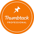 Thumbtack badge recognizing DFW Phoenix Films as a wedding videographer company in the Dallas/Fort Worth area.