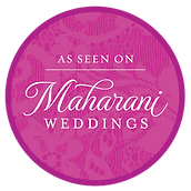 """""""As seen on Maharani Weddings""""- a magazine where our film of the wedding couple was published."""