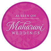 Maharani Weddings Logo publishing our wedding couple that we filmed with our company DFW Phoenix Films.