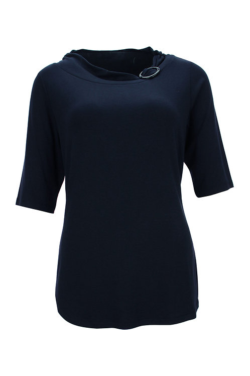 Kenny S Damen Shirt mit Brosche