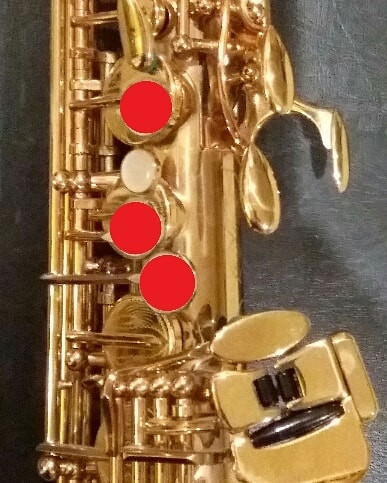 G on a Saxophone