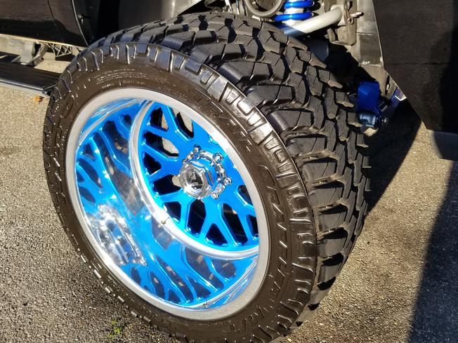 Chrome wheel polishing