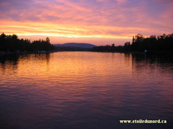 coucher de soleil vu du quai
