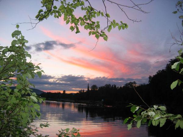 Coucher de soleil - Rivière Ouareau