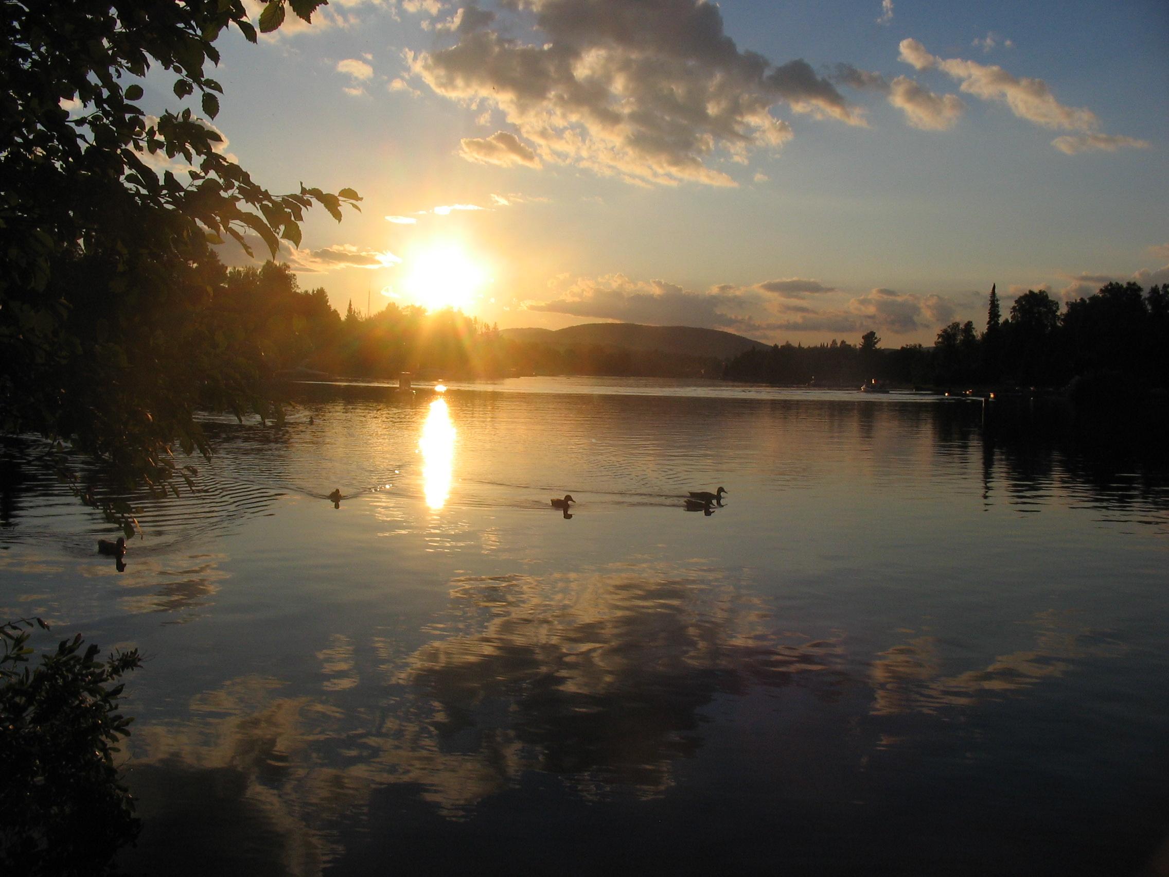 Coucher de soleil - vue du quai