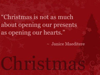 Christmas ... open your heart!