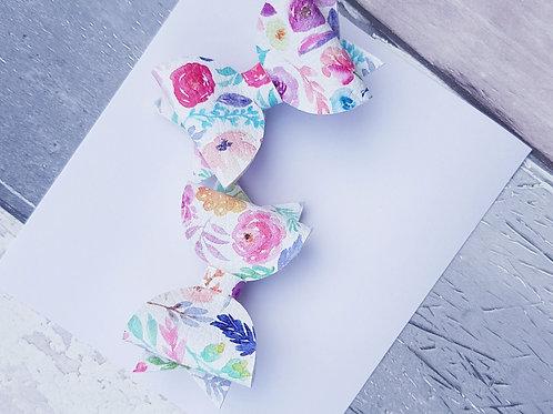 Floral pink pigtail set