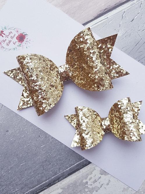 Golden lights bow