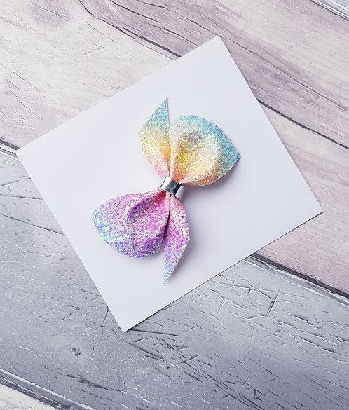 Rainbow scrunchie bow
