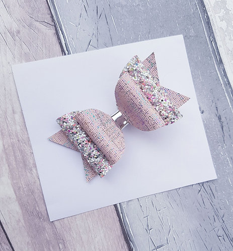 Pretty in pink double loop Dolly bow