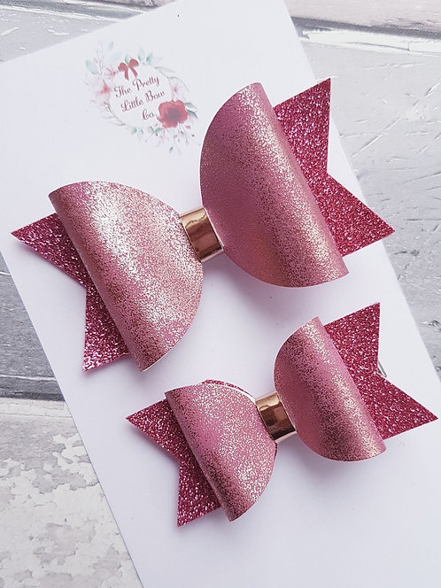 Marbled pink bow