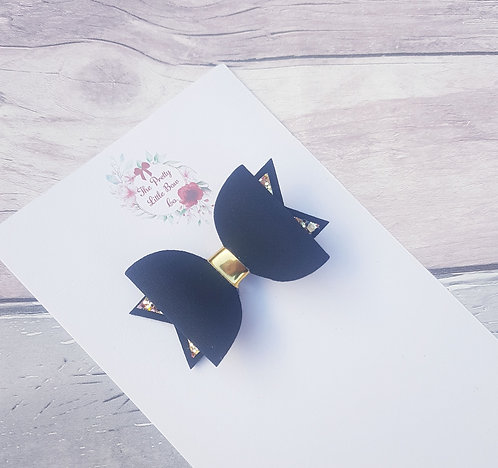 Black and gold Dolly bow