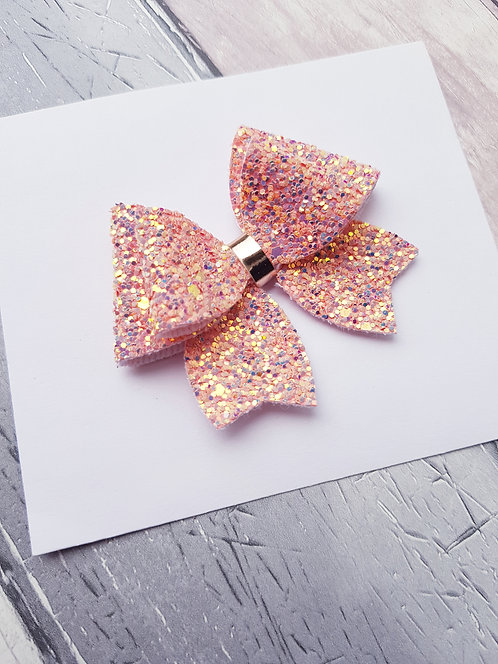 Coral crush Heidi bow