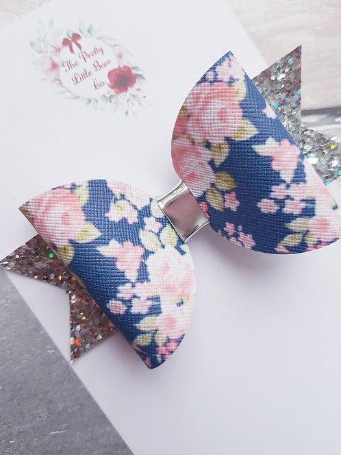 Blushing floral bow