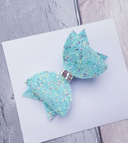 Mint glitter Dolly bow