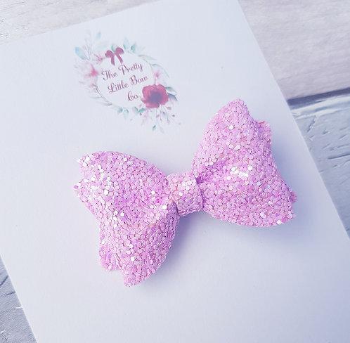 Pink glitter Pinch bow