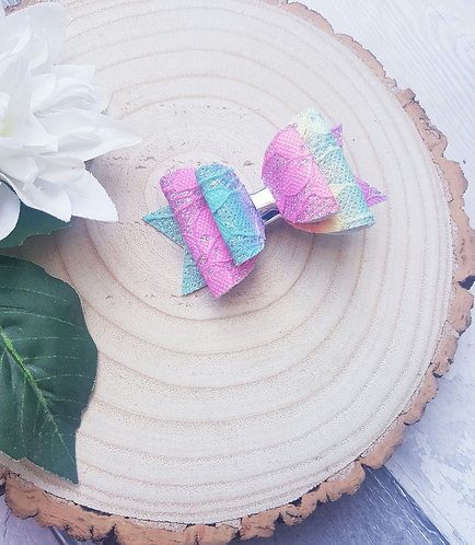 Rainbow lace Dolly bow