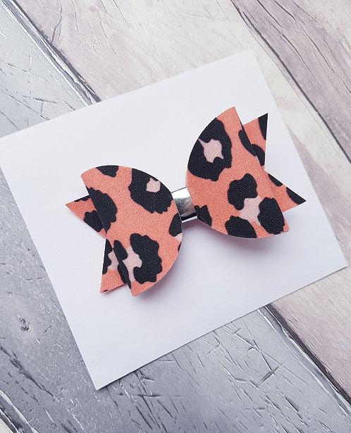 Blush leopard Dolly bow