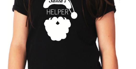 Youth Santa's Helper T-Shirt-Color Navy