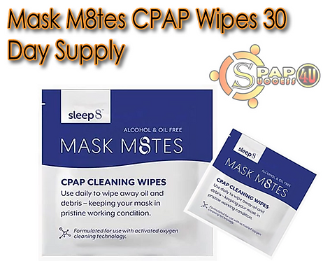 Mask M8tes CPAP Wipes 30 Day Supply