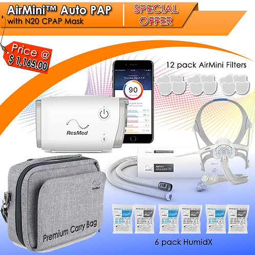 ResMed AirMini AutoSet N20 Promo Package
