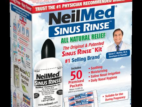 NEILMED'S SINUS RINSE  A COMPLETE SALINE NASAL RINSE KIT