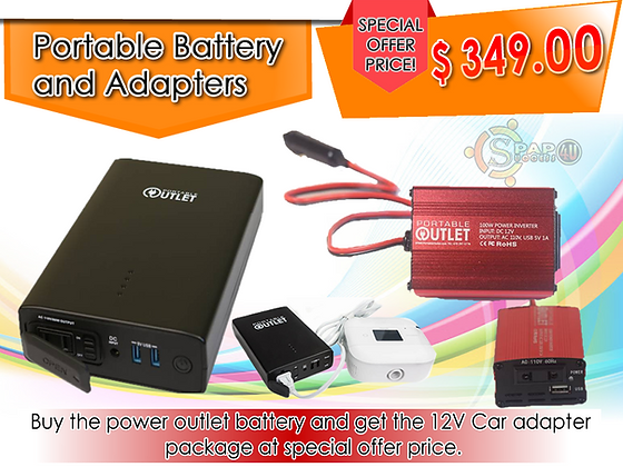 Portable Outlet 155W Battery W/ 12v Charger Promo