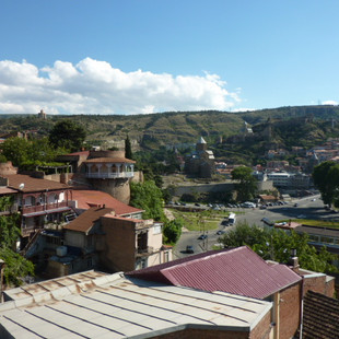 Room with a view in Tbilisi.JPG