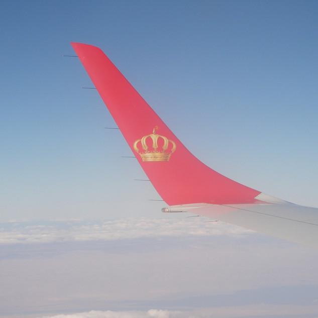Royal Jordanian Airlines rondreis Jordanië.JPG