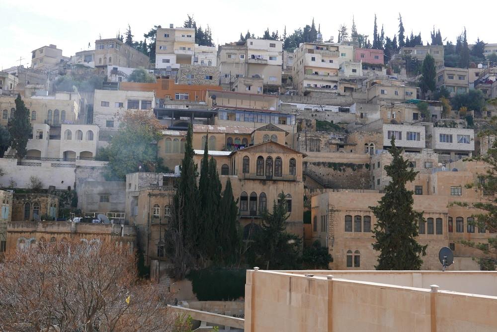 Uitzicht vanaf het English Hospital in Salt, Jordanië - Saffraan Reizen