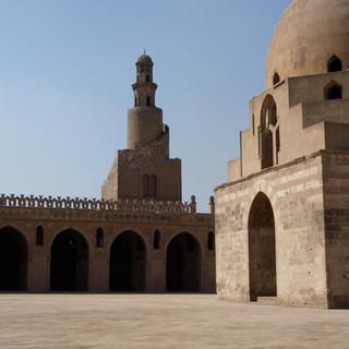 Spiraalminaret van de Ibn Tulun moskee i