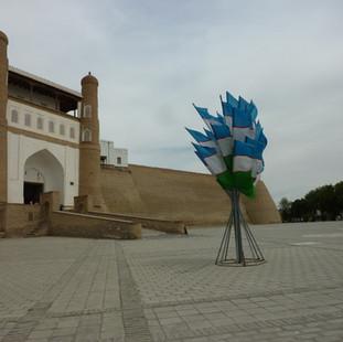 stadsmuur in Bukhara rondreis Oezbekistan Saffraan Reizen.JPG