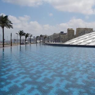 Water bij de Bibliotheca Alexandrina.JPG