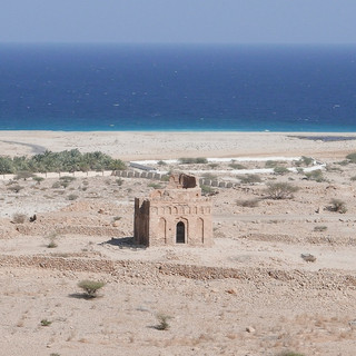 Op weg van Sur naar Muscat, Oman.JPG